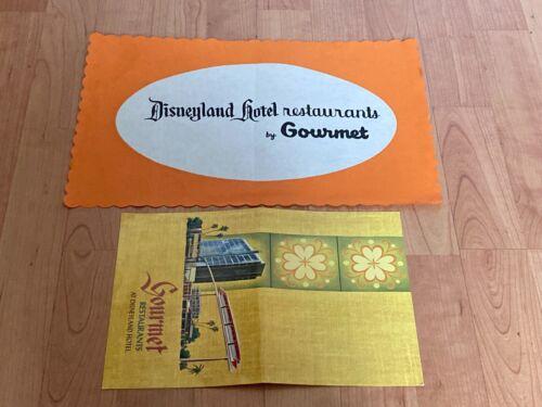 Vtg Gourmet Restaurants at Disneyland Hotel Coffee Shop Menu and placemat Disney