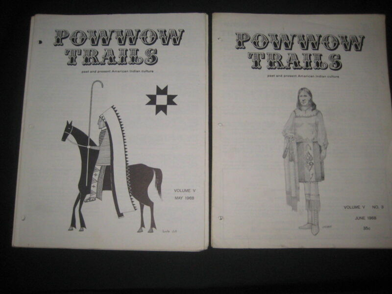 Powwow Trails, Past & Present American Indian Culture 7 Magazines 1967-69   bk#1