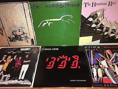 New Wave Punk Industrial Alternative Electronic Rock & Roll Vinyl LP Record Lot