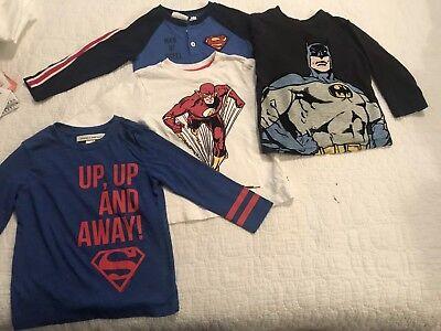 Baby Gap Toddler boys+Junk Food & Dc Comics Super Hero Shirt Lot 2T  - Boys Food
