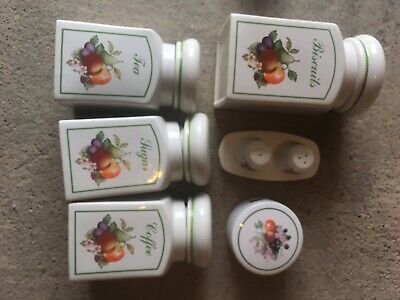 JOHNSON BROTHERS FRESH FRUITS SET OF 4 CANISTERS