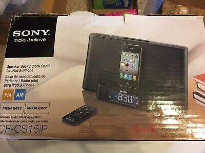 Sony Speaker Dock/Clock Radio (black) for iPod and iPhone.  Still In Box
