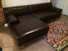 "Dark Brown Leather Chaise Lounge IKEA ""Kramfors"" Sofa Ashfield Ashfield Area Preview"
