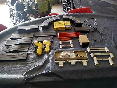 Large Lot of Aurora Slot Car Track and Accessories / Nice!