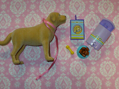 Mattel Barbie Doll Accessory Lot TANNER the POOPING PUPPY DOG with ACCESSORIES