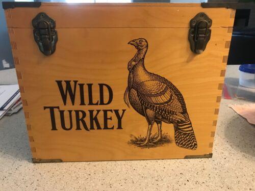 WILD TURKEY BOURBON WOODEN BOX