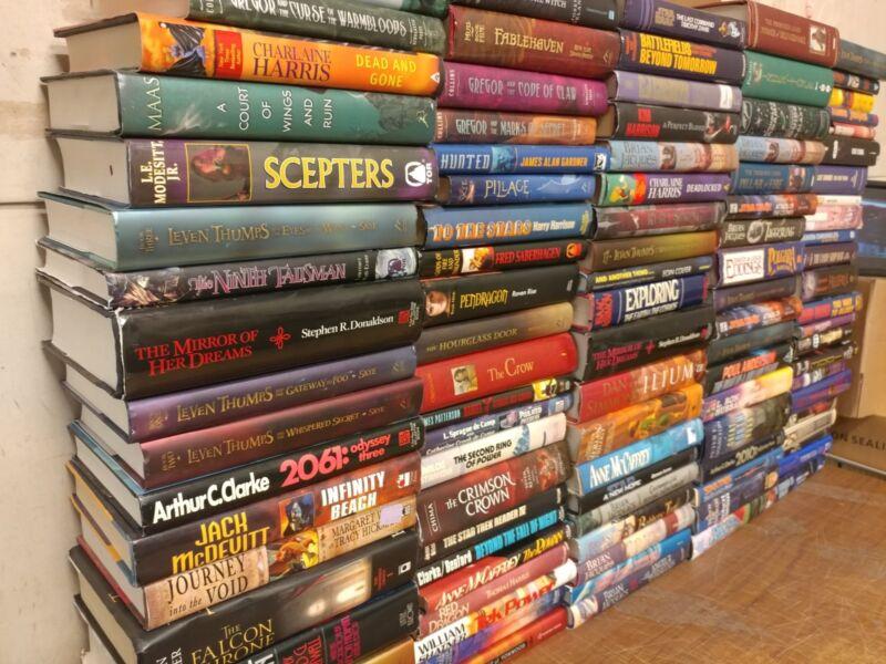 Lot of 10 Science Fiction Fantasy Rare Asimov Book Hardback SCI-FI MIX UNSORTED