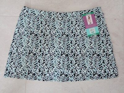 "TRANQUILITY COLORADO CLOTHING SKORT GOLF YOGA ""DENSE LEAVES, XL Extra Large NEW!"