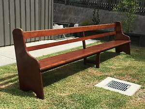 7x Antique Silky Oak Church Pews (6x 3.7m long / 1x 2.6m long) Caloundra Caloundra Area Preview