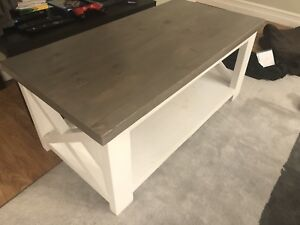 Solid wood coffee table - handmade