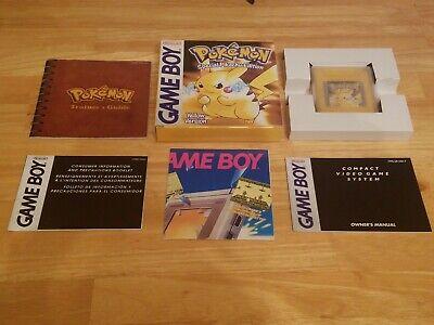 UK PAL Collectors Nintendo Gameboy Games Pokemon Yellow Version NM Free US Ship!