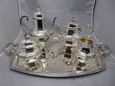 5 tlg. Kaffee / Tee Service Rudolphe Beunke Silber / Silver Paris~1900 punziert