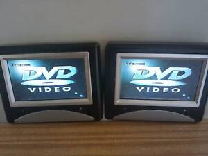 SOLD P P/U Portable DVD players - 2 screens for use in car or mains