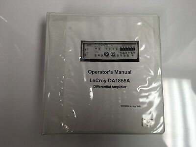 Lecroy Da1855a Differential Amplifier Printed Operators Manual