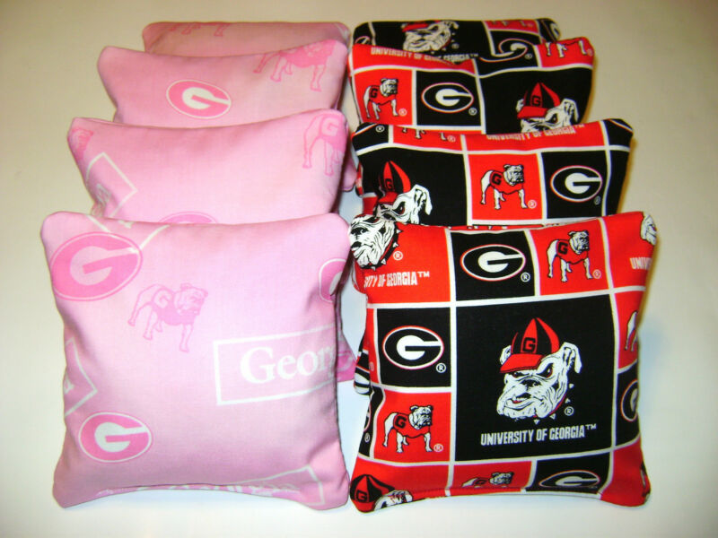 8 CORNHOLE GEORGIA BULLDOGS BEAN BAG CORN HOLE TAILGATE TOSS BAGGO  PIP