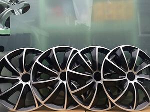 Radkappen Radzierblenden Set 4-teilig Schwarz/Silber 16 Zoll BMW Ford VW Audi