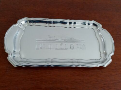 Kirk Stieff Polished Pewter Engraved Monticello Tray