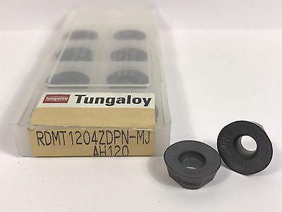 Tungaloy Rdmt1204zdpn-mj New Carbide Inserts Grade Ah120 10pcs Aa