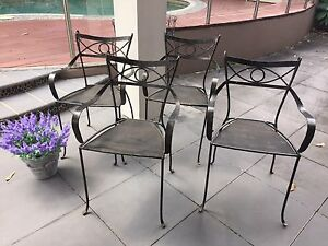 Wrought iron Chairs Lilli Pilli Sutherland Area Preview