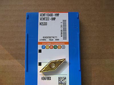 Korloy Vcmt160408-hmp Nc5330 S Ss Hr Ci Ta Cutting Inserts .031rad New