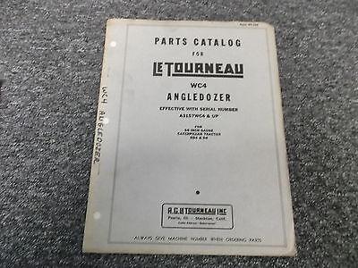 Letourneau Model Wc4 Angle Dozer Blade Parts Catalog Manual