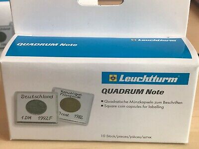 LEUCHTTURM 1 x 10 Quadrum Note 33 mm - Capsules carrées pour pièces
