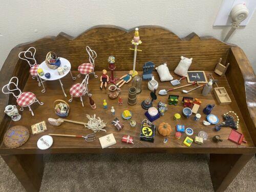 Big Lot Of Miniature Dollhouse  accessories