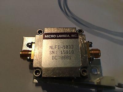 Yig Tunable Bandpass Filter Tektronix Rsa3408a Ytf Micro Lambda Mlfi-1033