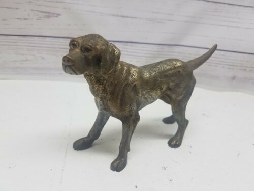 English Pointer Hunting Dog Metal Figurine Brass Door Stop Weimaraner Heavy EJ