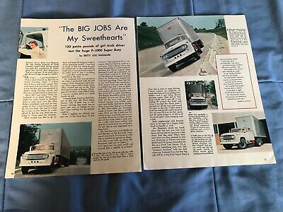 "1960 Ford Super Duty F-1000 Vintage Road Test Info Article ""The Big Jobs..."", usado comprar usado  Enviando para Brazil"