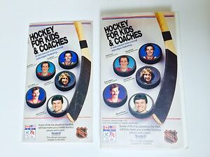 VINTAGE HOCKEY FOR KIDS AND COACHES VHS (1986) W/ BOOK