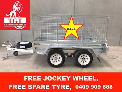 8x5 TANDEM HOT DIP GALVANISED TRAILER, 2000KG ATM