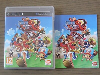 JEU PLAYSTATION 3  PS3  ONE PIECE UNLIMITED WORLD RED COMPLET EN FRANCAIS