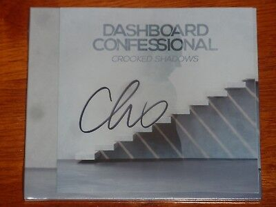 Dashboard Confessional Signed Cd Crooked Shadows Autographed Chris Carrabba