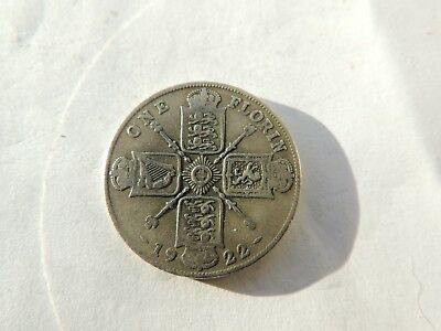1922 GEORGE V SILVER FLORIN / TWO SHILLING COIN - REF 223
