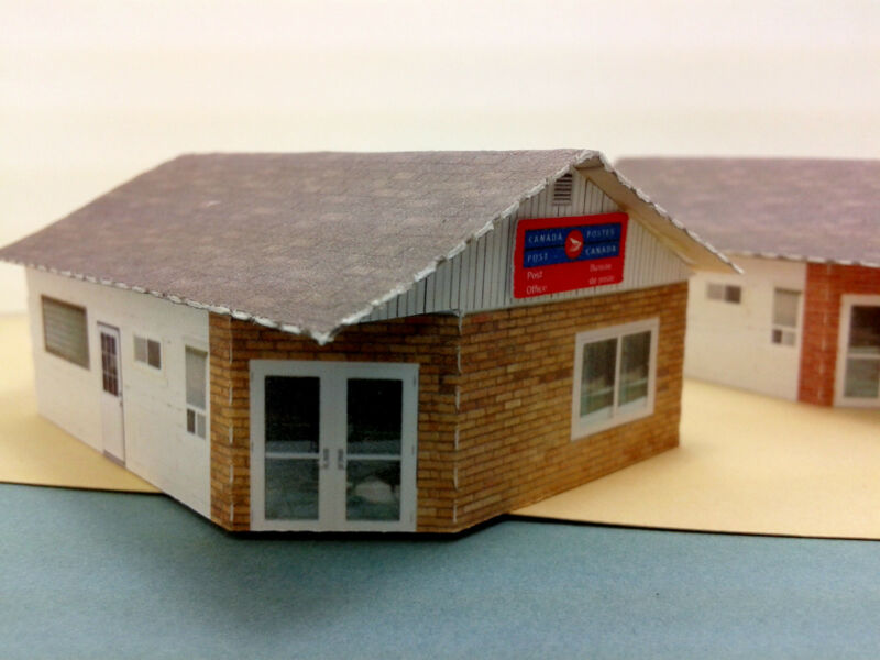 N Scale Buildings (2) - U S  Post Office or Canada Post Office Card
