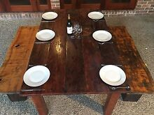 Rustic Farmhouse Old Vintage dining table 6 seater solid Keperra Brisbane North West Preview