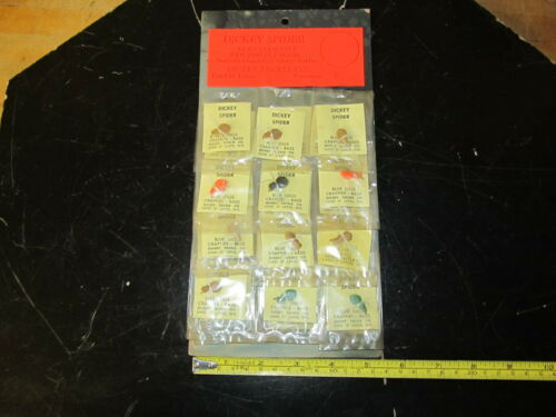 RARE Vintage Dickey Tackle Spider Pan Fish Fly Bait Store Display , 24 Flies