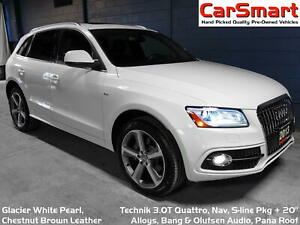 2013 Audi Q5 3.0T Technik, S-line, Nav, B & O Audio, 20 Alloys