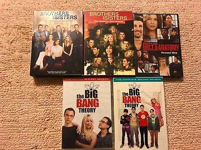 lot of misc TV SEASON SERIES DVD MOVIES BIG BANG GREYS ANATOMY BROTHERS SISTERS