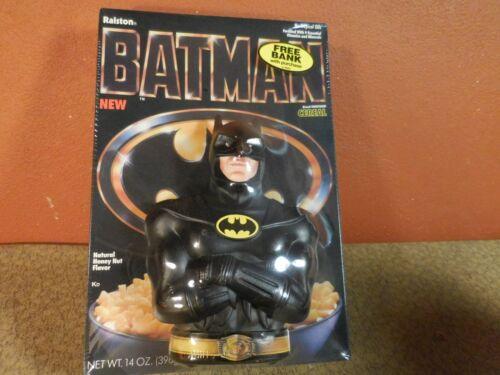 Vintage 1989 Ralson Purina Cereal Box BATMAN Movie w Free Bank Sealed