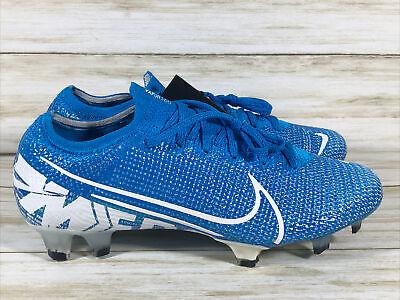 Nike Mercurial Vapor 13 Elite Fg Blue White Mens 5.5 Womens 7.5 New AQ4176-414