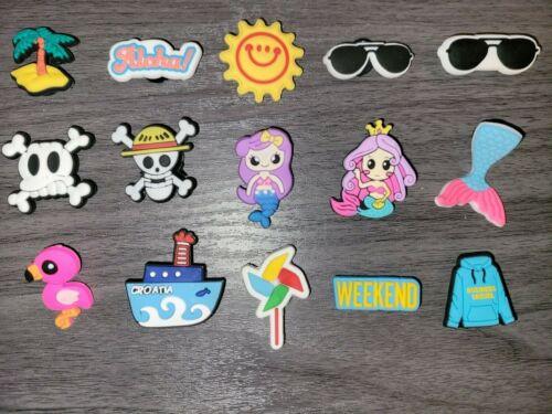 Mermaid Summer Beach Sunglasses Aloha Weekend Skull Flamingo Croc Charm Jibbitz