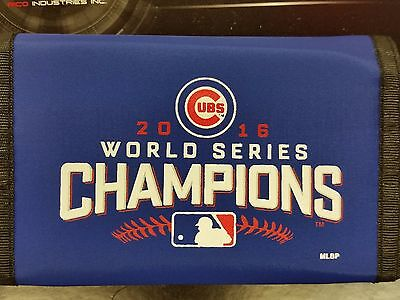 Chicago Cubs Tri Fold Wallet - MLB Chicago Cubs Nylon Tri-Fold Wallet, 2016 World Series Champions, NEW