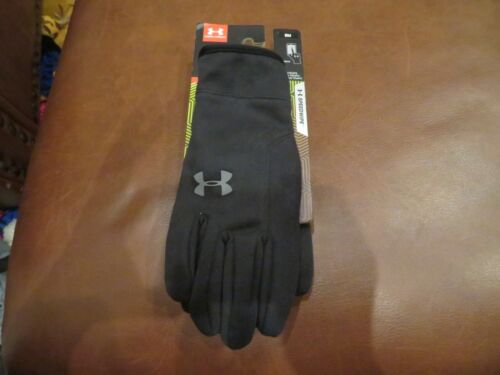 NWT Boys Black Under Armour Cold Gear Infrared Gloves, Size S