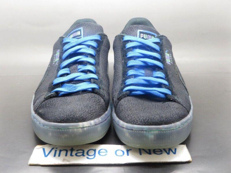 more photos 02c30 433ba Men's Puma Suede Classic v2 AOP Grafitti Black Royal Blue ...