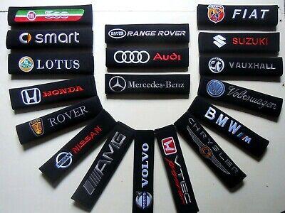 Seat Belt Pads (CHOICE OF 50 ) Car Makes  Vauxhall Audi Vw Volvo Mazda Honda etc