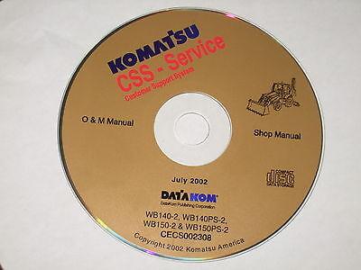 Komatsu Wb140-2 Wb140ps-2 Wb150-2 Wb150ps-2 Backhoe Service Shop Repair Manual