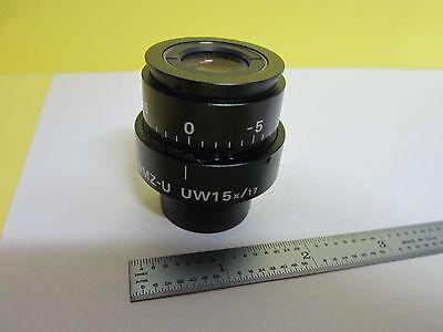 Microscope Part Nikon Japan Smz-u Uw15x17 Optics As Is Binl7-m-08