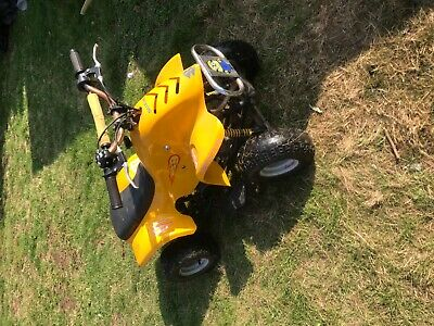 50cc kids quad bike starts runs and drives
